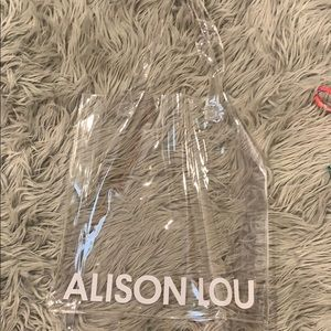 Alison Lou see through clear PVC tote bag